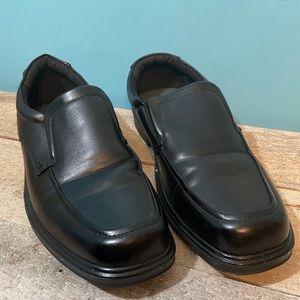 🛍3/$25 George men's sandy dress shoes black